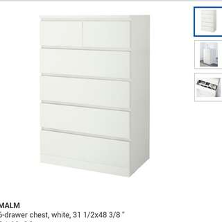 Ikea 6-drawer chest