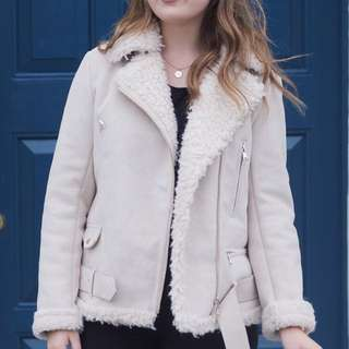 Zara Faux-Shearling Jacket