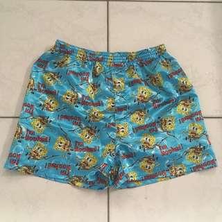 SpongeBob SquarePants Silk Blue Shorts - Sleepwear