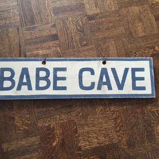 Brandy Melville - Wood Babe Cave sign