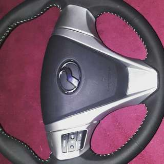 perodua Bezza Leather Steering with airbag