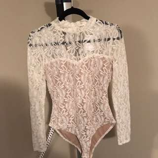New Ivory lace bodysuit