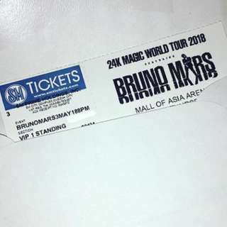 Bruno mars 24k Magic Tour VIP 1 and 2 Ticket