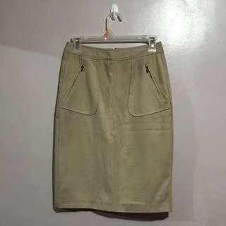 Croco Ladies Suede Pencil Skirt
