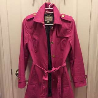 Pink Banana Republic Trench Coat