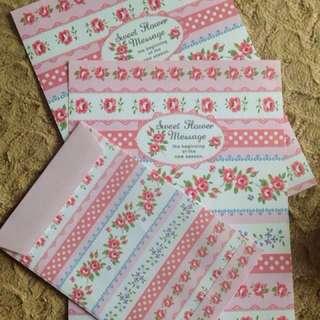 🌸Sweet Flower Message Letter Set