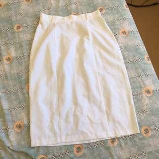 Katie's white skirt