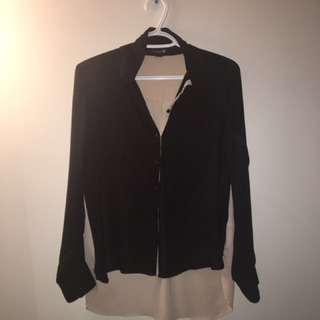 Black and beige dress shirt