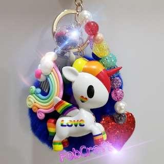 Tokidoki Special Edition Rainbow Unicorno Fob Charm