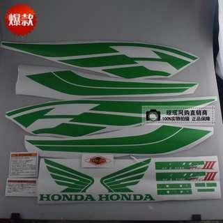 Many colour Honda Super 4 sticker full set