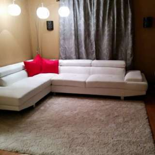 Sectional white couch