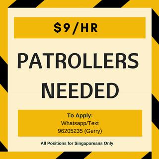 Patrollers | $9/hr
