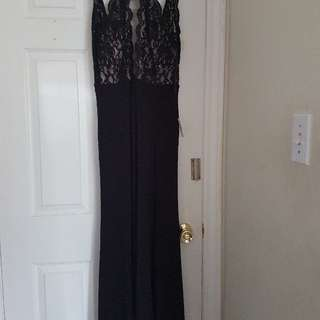 black beautiful dress bought for a weeding 79.99 + tax tags still on size S