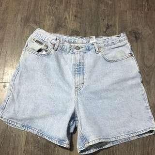 Calvin Klein Light Wash Denim Shorts