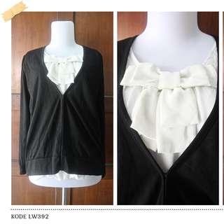 LW392 blouse import sweater ribbon