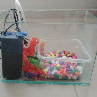 Complete Small Size Fish 🐟 tank Set