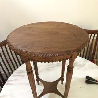 "Balinese teak side table 27"" height"