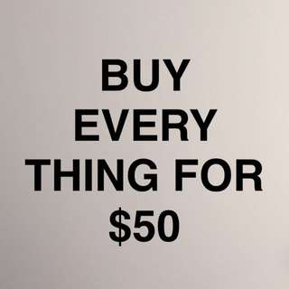 BUY ALL THE CLOTHES ON MY PAGE FOR $50!!!!