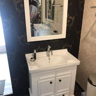 美式實木浴櫃