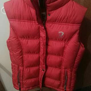 Red Duck Down Vest
