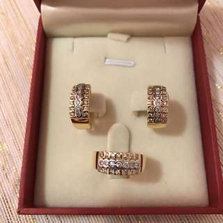 Authentic 14k Gold & White Gold with Diamonds