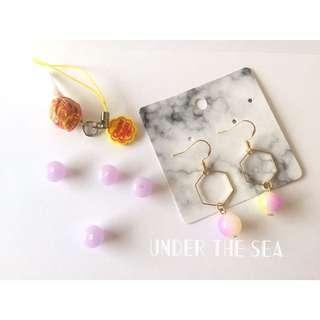水蜜桃糖果耳環