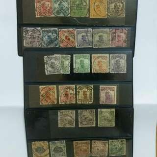 郵票舊票北京二版帆船農獲辟雍散舊票未成套,含一版帆船散舊票未成套,年代久遠郵戳清晰,共約5O張合購不分售,具收藏樂趣廉讓。
