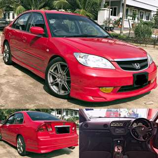 CASH!! CASH!!! CASH!!!   HONDA CIVIC ES K20 TYPE S 2.0 (A) SHIFTRONIC GEAR 6 SPEED TAHUN 2002