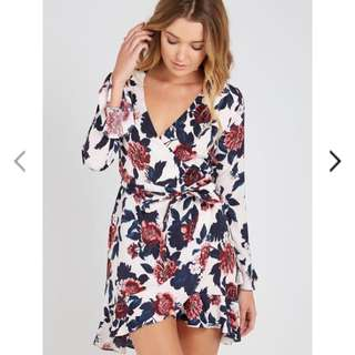 Supre Floral Wrap Frill Dress 10