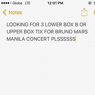 LOOKING FOR BRUNO MARS TICKETS