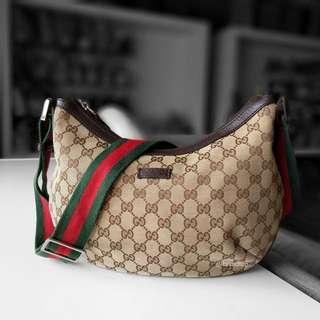 Authentic Gucci GG Canvas Messenger Bag