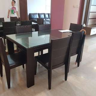 Lorenzo Dining Table Set With 6 Chairs