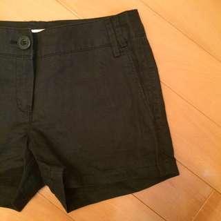 mango棉麻短褲34 36號 s