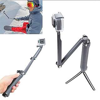 3 Way Extension Handle For GoPro/ Action Camera