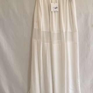 Missguided White Maxi Skirt