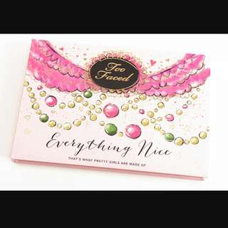 Authentic Too Faced Everything Nice Palette