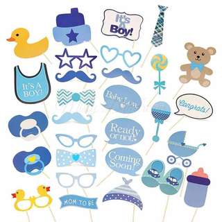 It's A Boy Baby Party Wedding Baby Shower Photobooth Props
