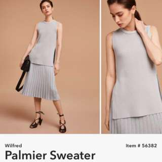 XXS Aritiza Wilfred palmier sleeveless sweater (not wool)