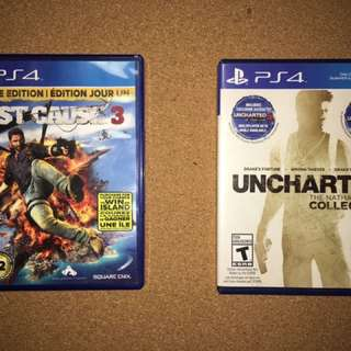 Just Cause 3 , Uncharted 4// 20 each