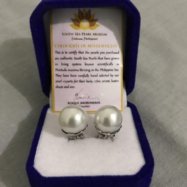 12mm Creamy White Natural South Sea Pearl