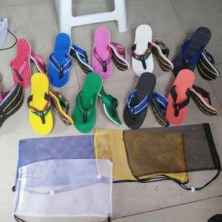 Marikina sandals,tribal Sandugo,with netbag