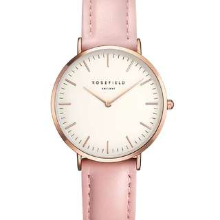 (po) ROSEFIELD Pink Rose Gold Watch