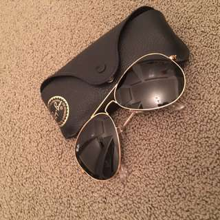 Authentic Ray Ban Aviators (Extra Large Frame)