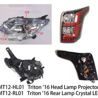 Head lamp for triton 16