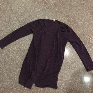 Purple Korean cardigan