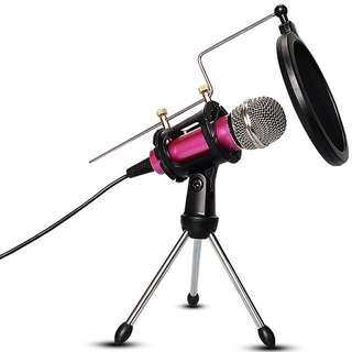M3 Professional Condenser Microphone Stand+BOP, Plug &Play Home Studio for Iphone Android Recording,Podcasting,Online Chatting