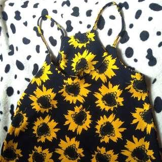 Sunflower and Halter Croptop