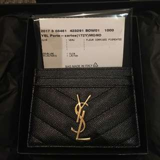 SAINT LAURENT Monogram Card holder (GOLD)