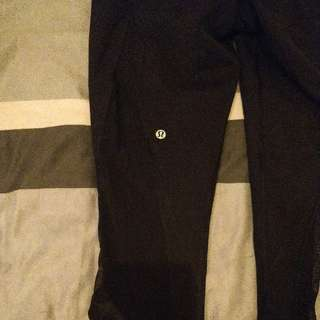 Lululemon 3/4 Crop Leggings Black