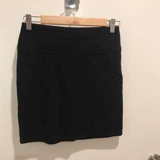 BlackMini skirt sports girl